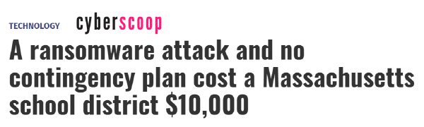 CyberScoop headline
