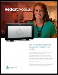 Lightspeed Redcat Spec Sheet